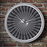 AXEF Jet Engine Turbine Fan Fliegeruhr Flugzeug Moderne Wandkunst Uhr Aviation Home Decor Jet Kunstwerk Pilot Wanduhr