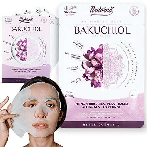 Maschera viso Idratante Antiossidante e Ringiovanente, con Siero di Bakuchiol. Set maschere viso da 5 - Ardaraz