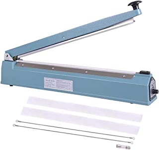 WeChef Commercial Manual Impulse Hand Sealer Heat Sealing Machine Poly Tubing Plastic Bag with Elements 20 inch 500mm