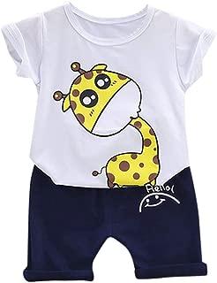 Pantaloni Corti Bimbo Pantaloncini A Righe Bambini 2 PCS Casual Outfits Topgrowth Set Neonato Camicie Maglietta A Maniche Corte Stampa T-Shirt Cime Tops