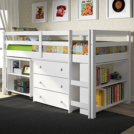 Donco Kids Low Study Loft Bed