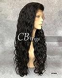 Cbwigs Leimlose natürliche Welle brasilianisches Remy-Echthaarperücke, 360 ° Lace-Frontalperücke, mit vorgeklebtem Haaransatz und gebleichten Knoten