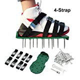 ValueHall Aireador de Césped Zapatos Sandalias , 4 Correas Ajustables, para Airear el Césped o en el Patio (Verde) V7056