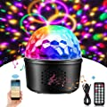 Party Lights Sound Activated Disco Ball Music Bluetooth Speaker with Remote Control 16 Colors Disco Lights DJ Lights LED Stage Light for Parties Birthday DJ Bar Karaoke Xmas Wedding Show Club Pub