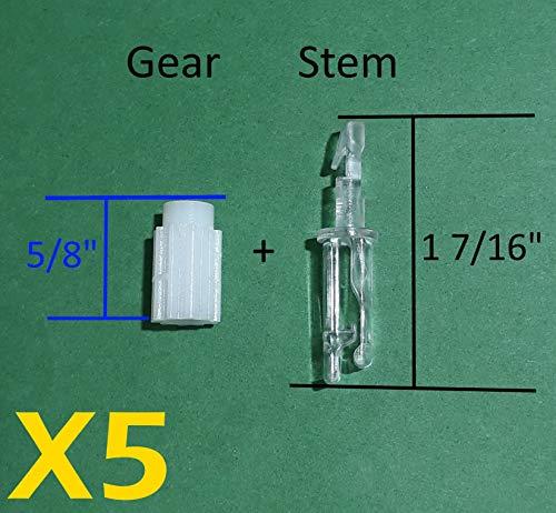 Blind Parts Vertical Blind Carrier Clip/Hook/Stem w/ Gear-5 Sets- No Carrier