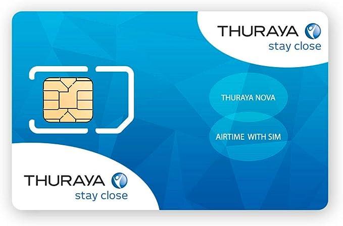 Tarjeta SIM NOVA para el Teléfono via satélite Thuraya con 60 Unidades (70 Minutos): Amazon.es: Electrónica
