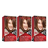 Revlon Colorsilk Beautiful Color Permanent Hair Color with 3D Gel Technology & Keratin, 100% Gray Coverage Hair Dye, 51 Light Brown, 4.4 oz (Pack of 3)