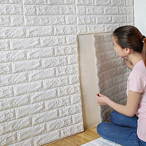 10pcs nueva etiqueta engomada de la pared de ladrillo del azulejo 3D etiqueta autoadhesiva impermeable del panel de la espuma
