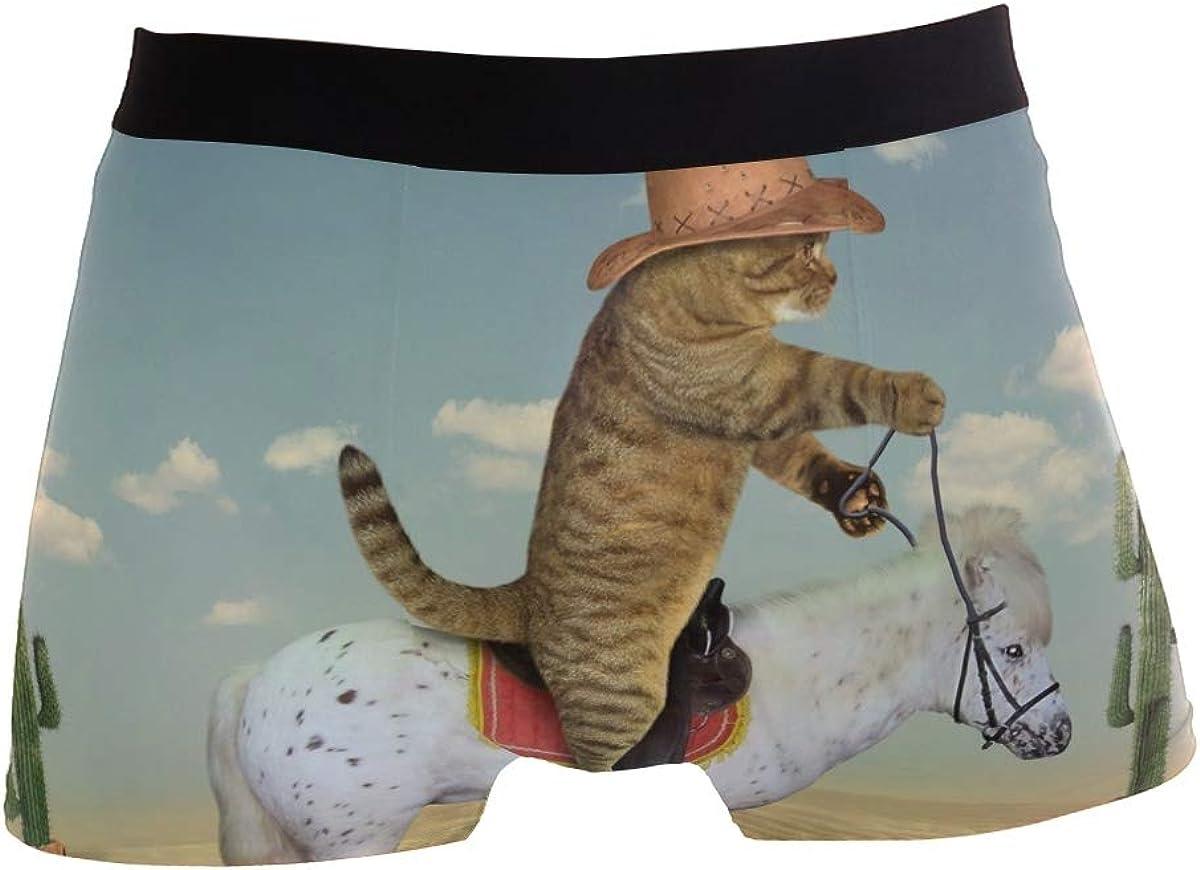 Funny Burrowing Owl Men Boxer Briefs Men's Underwear Comfort Soft Boxer Briefs