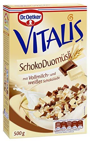Dr. Oetker Vitalis Schoko Duo, Frühstücksmüsli mit Vollmilch- und weißer Schokolade, 7er Packung (7 x 500g)