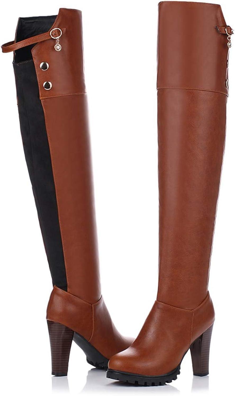 Winter High Heel Boots Leisure Elegant Heels Sexy Women shoes Round Toe Heel Buckle Zip Square Heel Boot