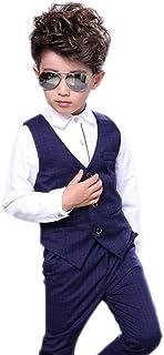 topmodelss フォーマル スーツ 子供服 ベストズボン シャツ3点セット 男の子スーツ キッズ 卒園式 入学式 結婚式 発表会