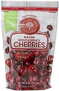 Cherry Bay Orchards - Dried Unsweetened Montmorency Tart Cherries - No Added Sugar - 8oz Bag -100% Domestic, All Natural, ...