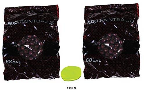 GI Sportz 1 Star Recreational PAINTBALLS 1000 Rounds Paint Balls (Green Fill)