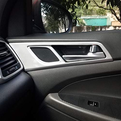 Cuenco para tirador de puerta interior de coche para Hyundai Tucson 2016-2019 ABS mate 4 piezas/set