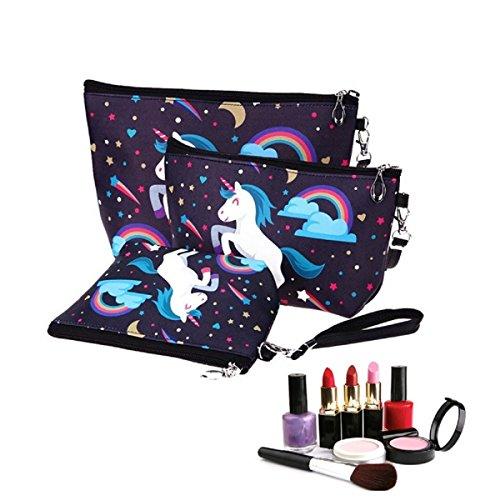 Make-up-Pinsel Bag Set, Flyfish Frauen Mädchen Eule Flamingo Einhorn bedruckt Make-up Tasche Kosmetiktasche Schlüssel Tasche Geldbörse Stationery Fall Bleistift Fall
