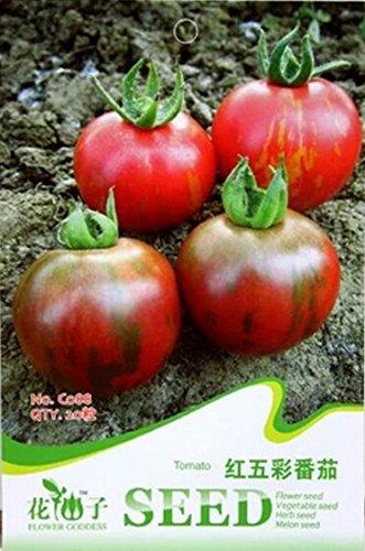 Grandes Rouge Jaune Tomate Graines de F1, pack d'origine, 20 graines / Pack, Tasty Edible Tomato C088