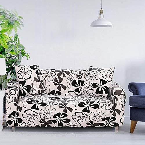 Omabeta Sofá elástico Protector Funda Lavable Muebles Sala de Estudio Dormitorio Hogar(Three Persons 190-230cm)