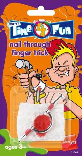 Smiffys 11062 - Nagel durch Finger-Trick, Action Dress Ups und Zubehör