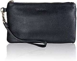 Women's Leather Wristlet Clutch Wallet, Smartphone Wristlet Purse Signature Wallet