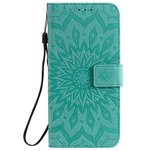 Handyhülle für Xiaomi Redmi K30 Hülle Leder Schutzhülle Brieftasche mit Kartenfach Magnetisch Stoßfest Handyhülle Case für Xiaomi Redmi K30 - XIKAT030727 Grün