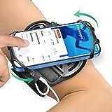 Bovon Porta Cellulare da Corsa, Traspirante Porta Telefono Corsa 360° Rotazione Compatibile con iPhone 12 Pro, Samsung S20, Portacellulare per Correre con Portachiave per Jogging, Palestra, Running
