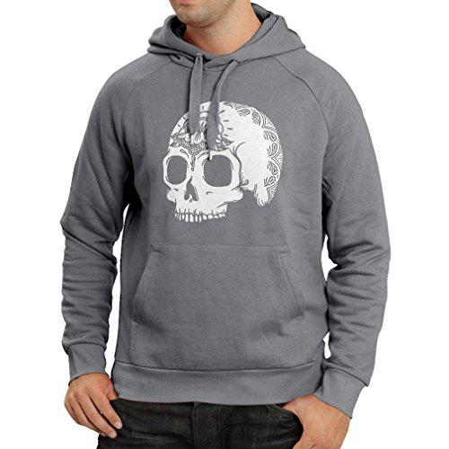 N4602H Sudadera con Capucha The Fashion Skull (XX-Large Grafito Multicolor)