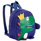 MOOKLIN ROAM Mochila Infantil 3D Dinosaurio, Toddler Mochila Escolar, Bolso de Bandolera, Bolso de Hombro de Bolso, Bolsa de Mensajero para Niñas Niños 1-3 años, 17x9x19 cm (L x W x H) - Azul