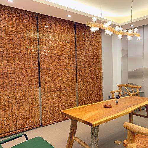 L-KCBTY Persiana Estor De Bambú para Ventana De Vestidor, Persianas Enrollables De Madera, para Decoración Interior/Exterior, Rústico Retro, Personalizable, Persianas De Caña Naturale