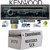 Mercedes SLK R170 - Autoradio Radio Kenwood KDC-BT530U - Bluetooth | Spotify | iPhone | Android | CD/MP3/USB - Einbauzubehör - Einbauset