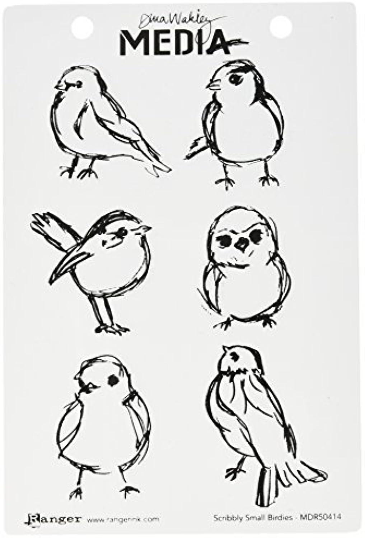 Ranger Scribbly Small Birdies Cling Rubber Stamp Set by Ranger B01MSDW294   Deutschland Store