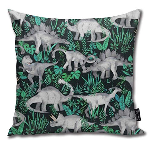 brandless Dinosaur Hygge Velvet Soft Soild Decorative Square Throw Pillow Covers Set Cushion Cases Pillowcases for Sofa Bedroom Car 18 x 18 Inch
