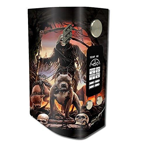 Skin Decal Vinyl Wrap for Wismec Reuleaux RX300 Vape Mod stickers skins cover / Grim Reaper Pitbull Skulls