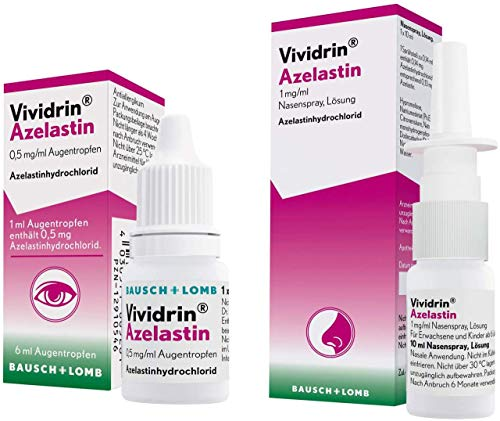 Vividrin Azelastin Augentropfen 6 ml + Azelastin Nasenspray 10 ml Set