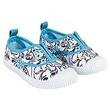 Disney ELSA Frozen Kinder Mädchen Canvas Schuhe Saiten. Weiße und Hellblaue (Größen 24 bis 31) (27 EU)
