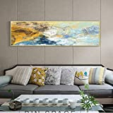 FXBSZ Pintura abstracta moderna del paisaje pintura al óleo carteles e impresiones en lienzo mural mural decoración de la sala pintura sin marco 30x110cm Sin marco