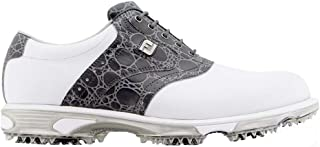 Men's Limited Edition 30th Anniversary DryJoy Tour Golf Shoes 53776 - White/Grey Croc Print - 10 - Medium