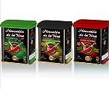 Pimentón de la Vera Ahumado en Lata, Pack 3x75g ( Dulce, Agridulce y Picante ). Producto ...
