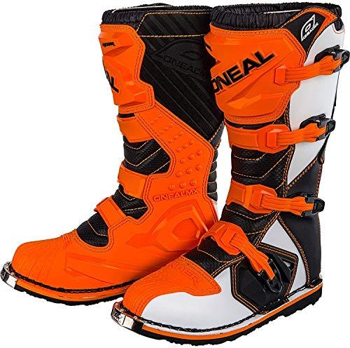 O'Neal Rider Boot MX Stiefel Orange Moto Cross Motorrad Enduro, 0329-3, Größe 45
