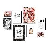 ARTFAVES Poster Set - Coco | Deko Rose rosa | 8 Moderne