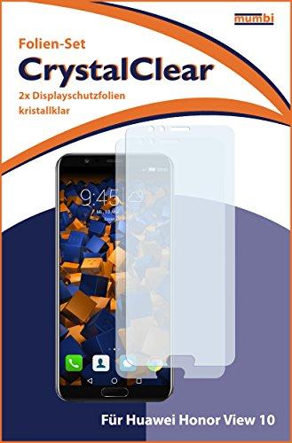 mumbi Schutzfolie kompatibel mit Huawei Honor View 10 Folie klar, Displayschutzfolie (2X) - 3