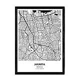 Nacnic Poster mit Karte von Jakarta - Indonesien.