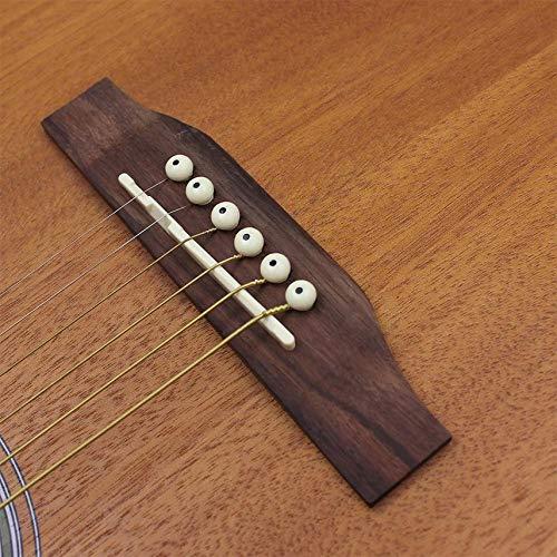 fghdf Cuerdas de Guitarra Clásica Folk núcleo de acero de aleación ...
