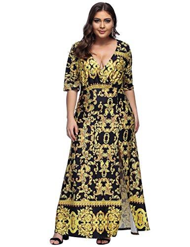 FeelinGirl Damen Kleid Abend Kleid Schulterfreies Cocktailkleid Jerseykleid Skaterkleid Frauen...