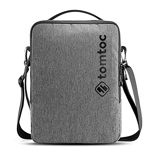 tomtoc 13 Inch Laptop Shoulder Bag for 12.9 iPad Pro, 12.3 Surface Pro, 13-inch MacBook Air/MacBook Pro, 13.5 Surface Book/Laptop, Sturdy Spill-resistant Protective Cross-body Commuter Case