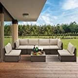 U-MAX 7 Piece Outdoor Patio Furniture Set, PE Rattan Wicker Sofa Set, Outdoor Sectional Furniture Chair Set...