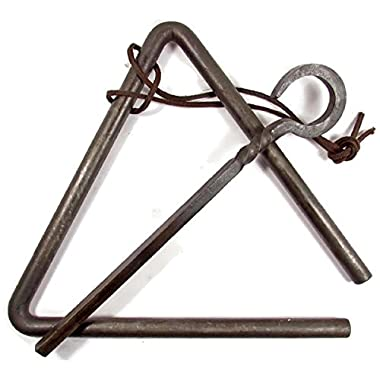 Forged Metal Triangle Chuckwagon Dinner Bell