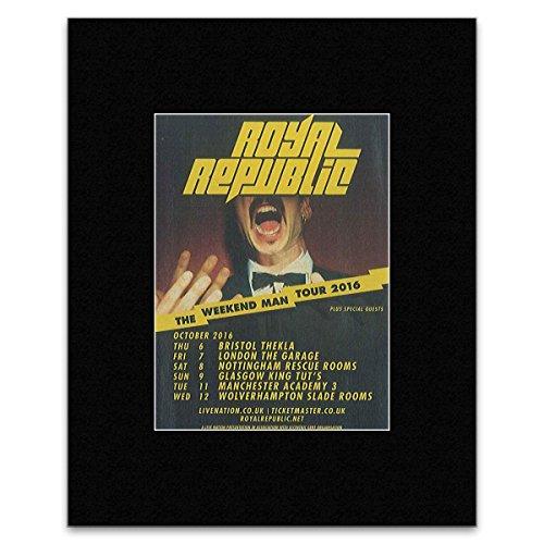 Royal Republic – The Weekend Man Tour 2016 Mini-Poster, 25,4 x 20,3 cm