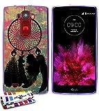 Coque souple Ultra-Slim LG G FLEX 2 au motif exclusif [Attrape-rêves] [Violette] de MUZZANO +...