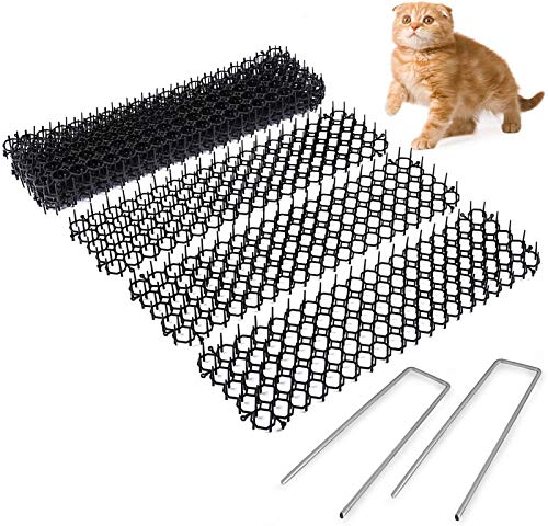 DZHTSWD Anti-cat Nets, 10 Cat Dung Pad with Spikes to Protect Plant Plugs, Prevent Wild Animals from Digging Deterrents, for Indoor Outdoor Garden Lawns